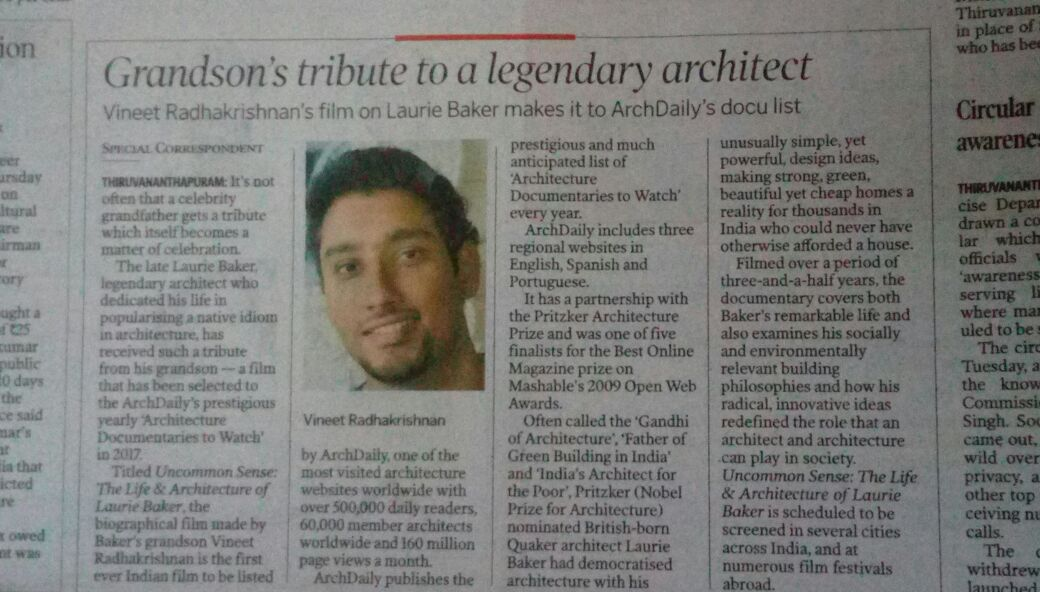 ArchDaily Hindu Jan 6th coverage